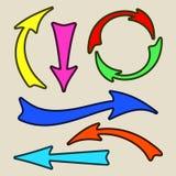 вектор иллюстрации стрелок установленный Стоковая Фотография RF