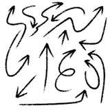 вектор иллюстрации стрелок установленный Стоковые Изображения RF