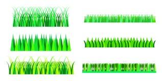 вектор иллюстрации травы градиента установленный Стоковые Изображения RF