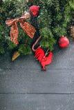вектор иллюстрации украшений рождества предпосылки Стоковые Изображения