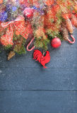 вектор иллюстрации украшений рождества предпосылки Стоковая Фотография RF