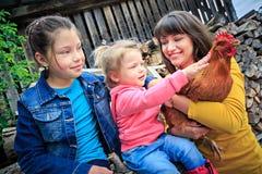 вектор иллюстрации фермы семьи шаржа смешной Стоковое фото RF