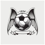 Вектор иллюстрации футбольного мяча Стоковое Изображение