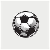 Вектор иллюстрации футбольного мяча Стоковое фото RF