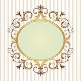вектор иллюстрации флористической рамки золотистый Стоковые Изображения RF