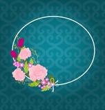 вектор иллюстрации цветка 4 карточек установленный Стоковые Изображения RF