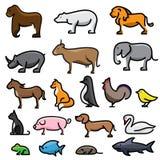 вектор иллюстрации шаржа животных установленный Стоковое Изображение RF