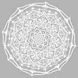 вектор иллюстрации элемента конструкции флористический Линия мандала изолированная на серой предпосылке Стоковое фото RF