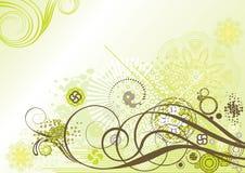 вектор иллюстрации элемента конструкции флористический Стоковые Изображения