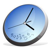 вектор иллюстрации eps 8 часов Стоковые Фотографии RF