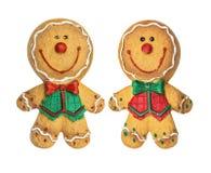 вектор иллюстрации gingerbread печений рождества установленный Стоковое Изображение