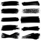 вектор иллюстрации grunge знамен установленный Стоковое Фото