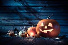 вектор иллюстрации halloween установленный тыквами Стоковая Фотография RF