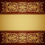Вектор каллиграфии предпосылки золота рамки границы год сбора винограда Стоковая Фотография