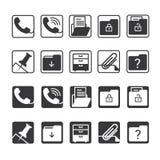 вектор канцелярских принадлежностей офиса иллюстрации икон установленный Стоковое фото RF