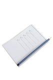 вектор карандаша блокнота иллюстрации Стоковое Фото