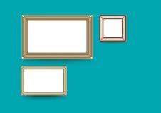 Вектор картинной рамки Художественная галерея фото на винтажной стене Стоковое Изображение