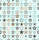 вектор картины безшовный геометрическая картина безшовная Звезды различных размеров и других цветов бесплатная иллюстрация