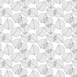вектор картины безшовный Декоративные геометрические листья Флористическая предпосылка с элегантным ботаническим мотивом Современ Стоковое фото RF
