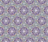 вектор картины безшовный Декоративные стилизованные цветки с листьями абстрактным текстура графиков предпосылки произведенная ком Стоковые Фотографии RF