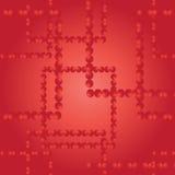 вектор картины безшовный Квадраты от красных шариков Стоковая Фотография