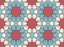 вектор картины безшовный Красочный этнический орнамент Стиль арабескы искусство исламское Стоковые Изображения