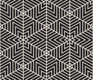 вектор картины безшовный самомоднейшая стильная текстура Повторять геометрический tiling от striped elementsr треугольника Стоковые Изображения RF