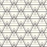 вектор картины безшовный самомоднейшая стильная текстура Повторять геометрическую предпосылку с линейными треугольниками с этниче Стоковые Изображения