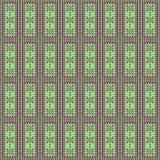 вектор картины безшовный Симметричная геометрическая предпосылка с прямоугольниками в зеленых цветах Стоковое фото RF