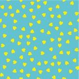 вектор картины безшовный Случайно размещаемые сердца Милая предпосылка для печати на ткани, бумаге, scrapbooking Стоковое Фото