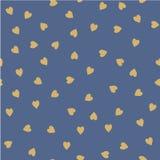 вектор картины безшовный Случайно размещаемые сердца Милая предпосылка для печати на ткани, бумаге, scrapbooking Стоковое Изображение RF