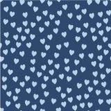 вектор картины безшовный Случайно размещаемые сердца Милая предпосылка для печати на ткани, бумаге, scrapbooking бесплатная иллюстрация