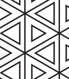 вектор картины безшовный Современная линейная геометрическая текстура Стоковые Изображения