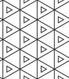 вектор картины безшовный Современная линейная геометрическая текстура Стоковые Изображения RF