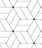 вектор картины безшовный Современная линия геометрическая предпосылка Стоковое Фото