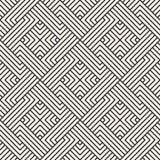 вектор картины безшовный Современная стильная абстрактная текстура Повторять геометрический Стоковые Изображения RF