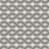 вектор картины безшовный Современная стильная абстрактная текстура Повторение волнистого геометрического tilesn иллюстрация вектора