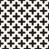 вектор картины безшовный Современная стильная абстрактная текстура Повторение геометрических округленных перекрестных форм иллюстрация вектора