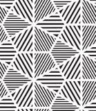 вектор картины безшовный Современная стильная линия, шестиугольник геометрический Стоковые Фотографии RF