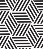 вектор картины безшовный Современная стильная линия, шестиугольник геометрический Стоковая Фотография