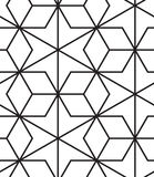 вектор картины безшовный Современная стильная линия, шестиугольник геометрический Стоковая Фотография RF