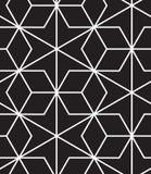 вектор картины безшовный Современная стильная линия, шестиугольник геометрический Стоковое Изображение