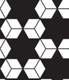 вектор картины безшовный Современная стильная линия, шестиугольник геометрический Стоковые Изображения