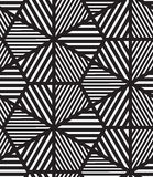 вектор картины безшовный Современная стильная линия, шестиугольник геометрический Стоковые Изображения RF