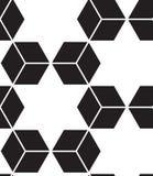 вектор картины безшовный Современная стильная линия, шестиугольник геометрический Стоковое Изображение RF