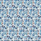вектор картины безшовный Состоит из геометрических элементов на белой предпосылке Элементы имеют триангулярную форму Стоковые Изображения RF