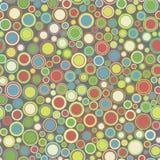 вектор картины безшовный Состоит из геометрических элементов аранжированных на серой предпосылке Стоковая Фотография RF