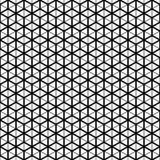 вектор картины безшовный Текстура решетки куба Светотеневая предпосылка Monochrome линия дизайн иллюстрация штока