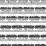вектор картины безшовный Формы треугольника геометрические в стиле Grunge Стоковая Фотография RF