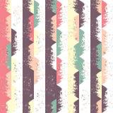 вектор картины безшовный Формы треугольника геометрические в стиле Grunge Стоковые Изображения